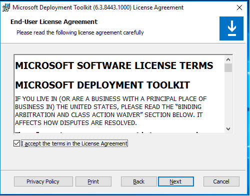 MD Install - License Agreement